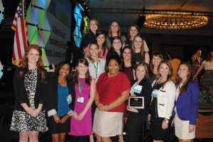 PRSSA at LSU member with Brandi Boatner, New Professional Chair for PRSA New York